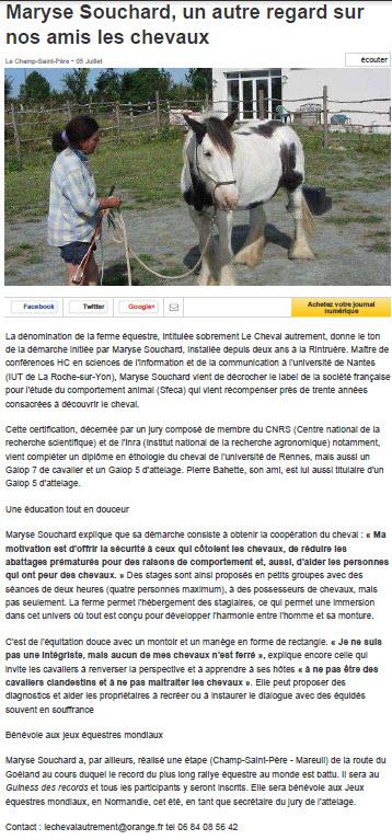 Ouest-france.fr_maryse-souchard-un-autre-regard-sur-les-chevaux